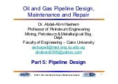 Part 5 structural design of pipelines