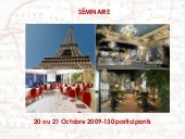 Organizing a seminar in Paris (pers...