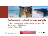 Partnering In Pharmaceutical Latin American Markets