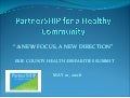 Partnership For A Healthy Community