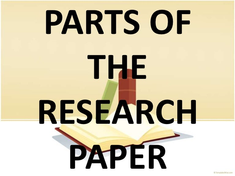 Main parts of a research paper