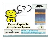 Parts of Speech -  Structure Classe...