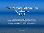 Parental Alienation Syndrome