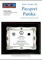 Passport Patrika | October  - Decem...