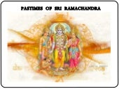 Pastimes Of Sri Ramachandra