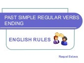 past simple regular verbs ending