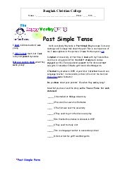 Past simple tutoring