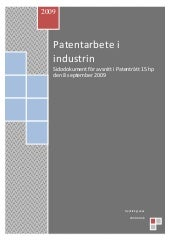 Patentarbete I Industrin 2009