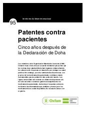 Patentes Vs Pacientes