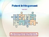 Patent Infringement