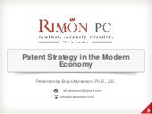 Patent strategy in the modern economy