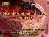 Pathophysiology of lipid metabolism