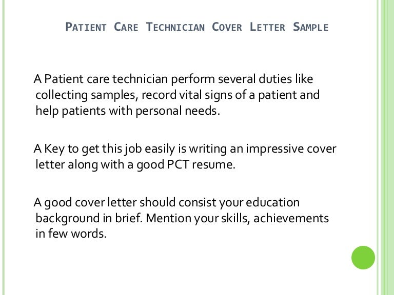 patient care tech resume care technician resume sample patient – Patient Care Technician Job Description