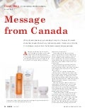 Cover Story - Message From Canada by Private Label Buyer Magazine