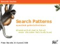 Search Patterns: An Early Talk