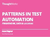 Patterns of Test Automation