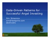Patterns of Successful Angel Investing by Simeon Simeonov