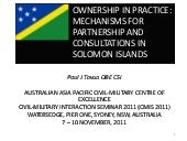 Paul J Tovua - Ownership in practic...