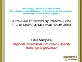SUSTAINING THE CAADP MOMENTUM Conso...