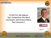 Paul Sansone Jr.: To Win The War Against Your Competition You Need a Strong Air and Ground Attack