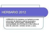 Pawer point herbario 2012