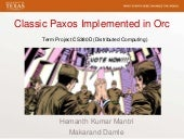 Basic Paxos Implementation in Orc