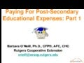 Paying for Post-Secondary Education Expenses