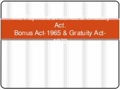 Payment of bonus n gratutity