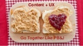 Content Strategy + UX Go Together Like PB & J