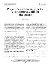 Pbl and 21st century skills