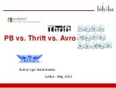 Thrift vs Protocol Buffers vs Avro - Biased Comparison