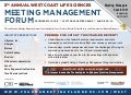 5th Annual West Coast Life Sciences Meeting Management Forum Brochure