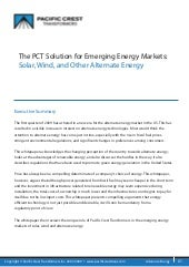 Pct Solution For Emerging Energy Ma...