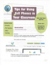 Using Cell Phones in the Classroom