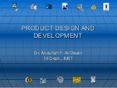 Product Design & Development - 1