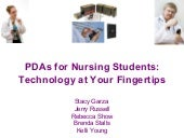 PDAs for Nursing Students: Technolo...