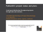 PDE2011 pythonOCC project status and plans