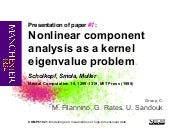Nonlinear component analysis as a k...