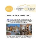 Realty One Group: Homes for Sale in Pebblecreek & Peoria