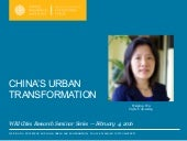 China's Urban Transformation — Weiping Wu, Tufts University — WRI Cities Research Seminar Series