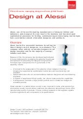 Design at Alessi