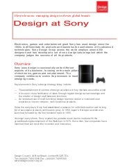 Design at Sony