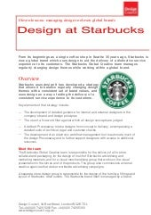 Design at Starbucks