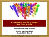 Providence Day School Inclusion in the Early Years
