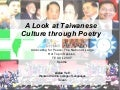PEACE: A Look at Taiwanese Culture through Poetry