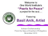Pearls for Peace features Basil Ani...