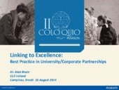 Linking to Excellence: best practice in university/corporate partnerships