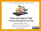 There is an App for That! The Best iPad Apps for Teaching