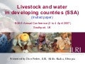 Livestock and water in developing countries (SSA)