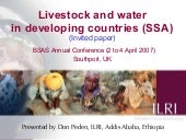Livestock and water in developing c...